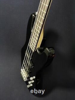 1/2 Size Haze 4-String Electric Bass Guitar, Black+Free Gig Bag, Strap SBG-387BK