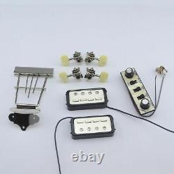 1 Set Original Genuine Hofner HCT500 Series Bass Kit Tuners+Pickups+Tailpiece