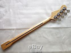 1 set Electric Bass Guitar Neck Replacement Maple Wood 24 Fret parts and tuners
