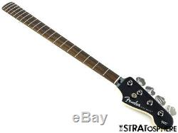 19 Fender Aerodyne Jazz Bass NECK+ TUNERS Guitar Parts Modern, Black Headstock