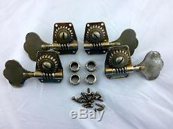 1961 Gibson EB-0 EBO Bass Tuning Pegs Tuners with Bushings and Screws Vintage
