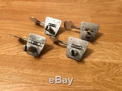 1966-1967 Fender Lollipop Bass Guitar Tuners-Tuning Keys 1960's Vintage Full Set