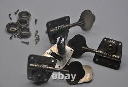 1966-1967 Vintage Fender Jazz Bass Precision Tuners NICKEL Tuning Pegs 1960's