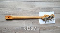 1966 Fender Precision Bass Neck / Original Tuners Rosewood Vintage P 5APR66C EXC
