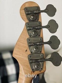 1975 Fender Precision Bass Guitar Neck Burdseye Maple Vintage Gotoh Tuners Brass