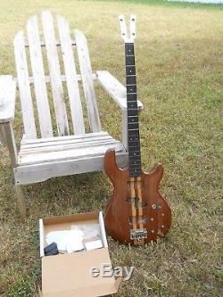 1978 Kramer 450B Bass Guitar Project, Aluminum Neck, All There But Tuners Knobs