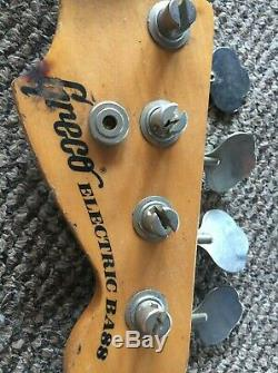 1979 Greco Precision P bass. Lollar pickups, Hipshot D Tuner HSC AND