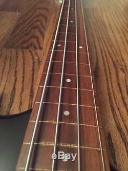 1980s Morris Moridiria Hurricane EXB-02 Fretless Electric Bass Gotoh Tuners