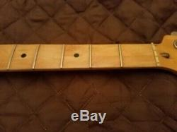1984 G&L SB-2 Maple Bass Neck With Neck Plate, Tuners, String Tree Project