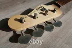 1986 Squire by Fender Jazz Bass Neck / Original Tuners Rosewood Vintage Japan