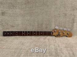 1994 Fender Precision Bass LOADED NECK + TUNERS Mexico Squier Series 34 Scale