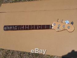 1996 97 Fender MIM Jazz Bass Guitar Neck W Tuners