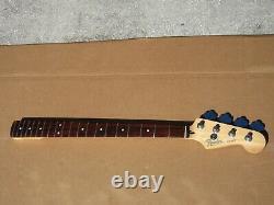 1998 Fender MIM Jazz Bass Guitar Neck W Tuners Neckplate
