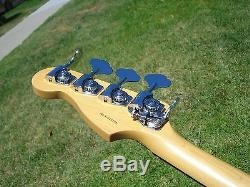 1999 Fender American P Bass 4 String with Drop D Tuner Trans White Blonde