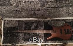 2007 German Warwick Thumb Bass 4 BO with Warwick Flight hard Case- Hipshot tuners