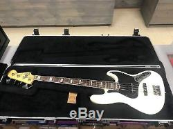2011 Fender Jazz Bass American Deluxe Electric Bass Guitar with Drop D-Tuner / HSC