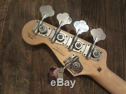 2011 Squier Fender Vintage Modified Jazz Bass 5-String 70s Neck + Tuners