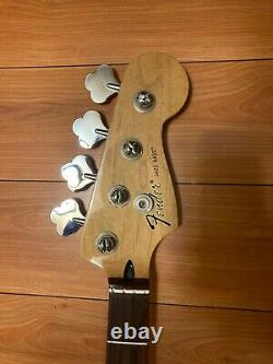 2016 Fender Jazz Bass Neck with Tuners and Neck Plate Made in Mexico