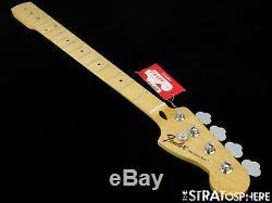 2016 Fender Standard Precision P BASS NECK & TUNERS Bass Guitar Parts, Maple
