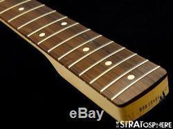 2017 Fender Mustang PJ Bass NECK & TUNERS Bass Guitar 30 Scale Pau Ferro