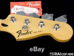 2017 Fender Standard JAZZ BASS NECK & TUNERS Bass Guitar 9.5 Radius Maple