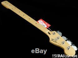 2017 Fender Standard JAZZ BASS NECK & TUNERS Bass Guitar 9.5 Radius Maple