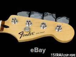 2017 Fender Standard JAZZ BASS NECK & TUNERS Bass Guitar 9.5 Radius Pau Ferro