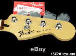2017 Fender Standard Jaguar BASS NECK & TUNERS Bass Guitar 9.5 Radius Pau Ferro