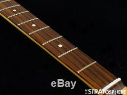 2018 Fender Mustang PJ Bass NECK & TUNERS Bass Guitar 30 Scale/ Pau Ferro