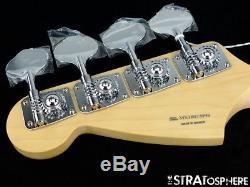 2018 Fender Mustang PJ Bass NECK & TUNERS Bass Guitar 30 Scale Pau Ferro