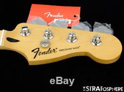 2018 Fender Standard Precision P BASS NECK + TUNERS Bass Guitar Parts Maple