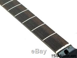 2019 Fender Aerodyne Jazz Bass NECK& TUNERS Guitar Parts Modern, Black Headstock