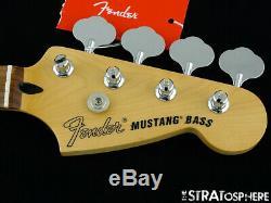2019 Fender Mustang PJ Bass NECK & TUNERS Bass Guitar 30 Scale Pau Ferro
