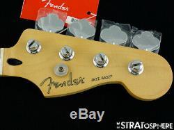 2019 Fender Player Jazz BASS NECK & TUNERS Bass Guitar Parts, Modern C Maple