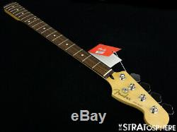 2019 Fender Player Jazz BASS NECK & TUNERS Bass Guitar Parts, Modern C Pau Ferro