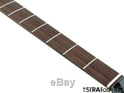 2020 Fender Aerodyne Jazz Bass NECK +TUNERS Guitar Parts Modern Black Headstock
