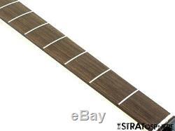2020 Fender Aerodyne Jazz Bass NECK & TUNERS Guitar Parts Modern Black Headstock