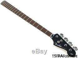 2020 Fender Aerodyne Jazz J Bass NECK& TUNERS Guitar Modern Black Headstock
