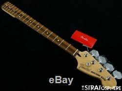 2020 Fender Mustang PJ Bass NECK & TUNERS Guitar 30 Scale Pau Ferro