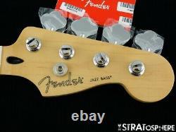 2020 Fender Player Jazz BASS NECK + TUNERS Bass Guitar Parts Modern C Maple