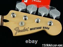 2020 Fender Player Mustang PJ Bass NECK +TUNERS Guitar 30 Scale Pau Ferro