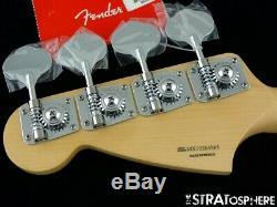 2020 Fender Player Mustang PJ Bass NECK & TUNERS Guitar 30 Scale Pau Ferro