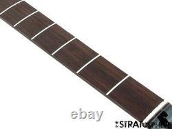 2021 Fender Aerodyne Jazz Bass NECK + TUNERS Guitar Parts Modern Black Headstock