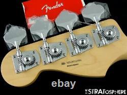 2021 Fender Player Jazz BASS NECK +TUNERS Bass Guitar Parts Modern C Pau Ferro