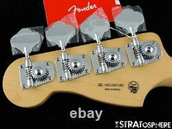 2021 Fender Player Precision P BASS NECK & TUNERS Bass Guitar Parts, Pau Ferro