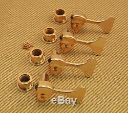 20655G Reversible Set of 4 Hipshot USA Gold Ultralite 1/2 Y Key Bass Tuners