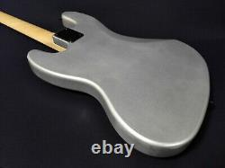 3/4 Haze 4-String Electric Jazz Bass Guitar, Dark Silver+Free Bag. HSJB 19580MSBH