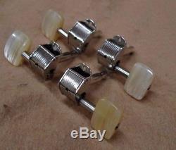 4 1960's STYLE HOFNER 2 + 2 Chrome BASS Guitar Tuners Keys 500/1 BEATLE or CLUB