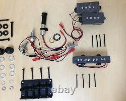 4/4 B-325DIY Complete No-Soldering PRS Electric Bass Guitar DIY Kit+Tuner, 3Picks