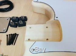 4/4 Complete No-Soldering PB Electric Bass Guitar DIY Kit+Tuner, Picks. B-303DIY